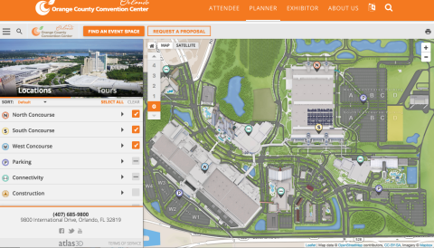 Orange County Convention Center First To Offer Interactive Online - Orange county convention center map