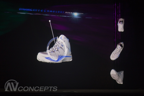 614f69d82ec6 AV Concepts Captivates Nike Audience with Holographic Illusion ...