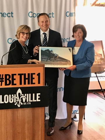 (L to R) Louisville CVB's Karen Williams, Connect's Cjris Collinson, Louisville Mayor's Chief of Staff Ellen Hesen